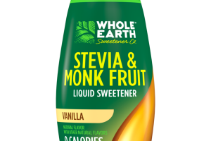 VANILLA STEVIA & MONK FRUIT LIQUID SWEETENER