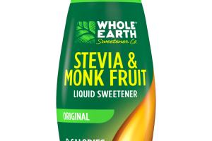 ORIGINAL STEVIA & MONK FRUIT LIQUID SWEETENER