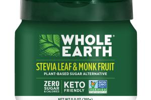 STEVIA LEAF & MONK FRUIT PLANT-BASED SUGAR ALTERNATIVE