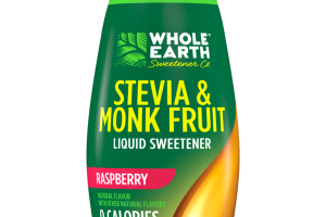 RASPBERRY STEVIA & MONK FRUIT LIQUID SWEETENER