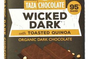 ORGANIC WICKED DARK WITH TOASTED QUINOA DARK CHOCOLATE