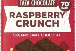 RASPBERRY CRUNCH ORGANIC DARK CHOCOLATE