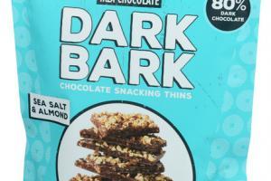 SEA SALT & ALMOND DARK BARK CHOCOLATE SNACKING THINS