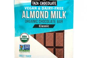 CLASSIC ALMOND MILK ORGANIC CHOCOLATE BAR