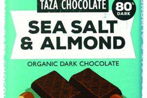 SEA SALT & ALMOND ORGANIC DARK CHOCOLATE