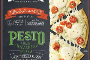 PESTO CHERRY TOMATO & BASIL THIN ARTISAN CRUST FRESH MOZZARELLA PIZZA