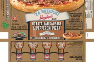 HOT ITALIAN SAUSAGE & PEPPERONI PIZZA
