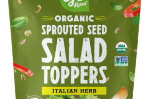 ITALIAN HERB SPROUTED SEED SALAD TOPPERS