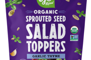 GARLIC THYME ORGANIC SPROUTED SEED SALAD TOPPERS