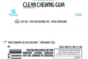 EVEREST PEPPERMINT CLEAN CHEWING GUM