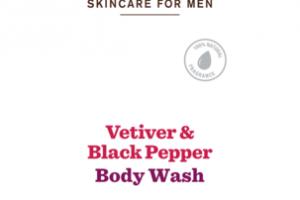 BODY WASH, VETIVER & BLACK PEPPER