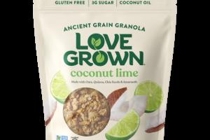 GLUTEN FREE COCONUT LIME ANCIENT GRAIN GRANOLA