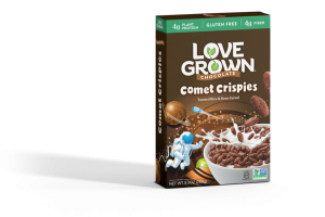 CHOCOLATE COMET CRISPIES TOASTED RICE & BEAN CEREAL