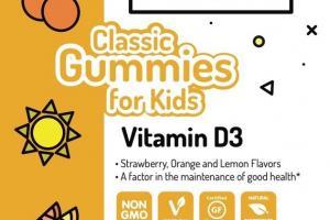 VITAMIN D3 CLASSIC GUMMIES FOR KIDS DIETARY SUPPLEMENT