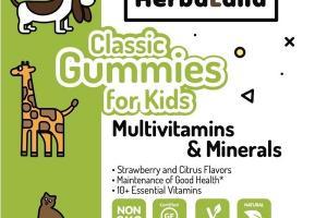 MULTIVITAMINS & MINERALS DIETARY SUPPLEMENT CLASSIC GUMMIES FOR KIDS