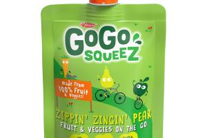 ZIPPIN' ZINGIN' PEAR FRUIT & VEGGIES ON THE GO