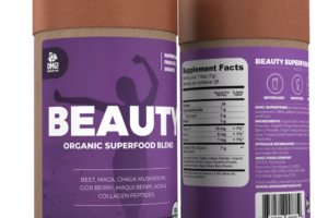 BEET, MACA, CHAGA MUSHROOM, GOJI BERRY, MAQUI BERRY, ACAI & COLLAGEN PEPTIDES BEAUTY SUPERFOOD BLEND