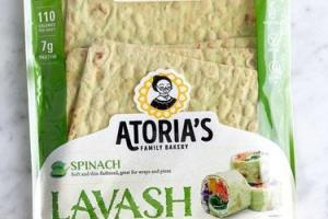 LAVASH SPINACH SOFT AND THIN FLATBREAD