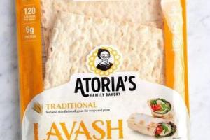 LAVASH TRADITIONAL SOFT AND THIN FLATBREAD, GREAT FOR WRAPS AND PIZZA