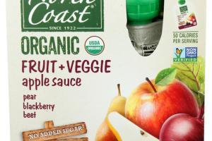 PEAR, BLACKBERRY, BEET FRUIT + VEGGIE APPLE SAUCE