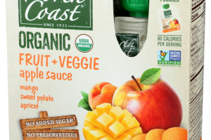 MANGO, SWEET POTATO, APRICOT FRUIT + VEGGIE APPLE SAUCE