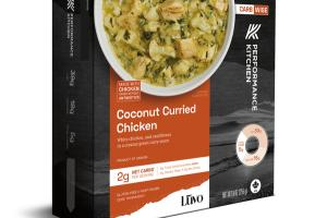 COCONUT CURRIED CHICKEN WHITE CHICKEN, AND CAULIFLOWER IN A CREAMY GREEN CURRY SAUCE