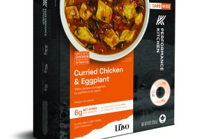 CURRIED WHITE CHICKEN AND EGGPLANT, IN A GOLDEN CURRY SAUCE