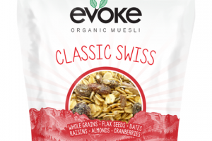ORGANIC MUESLI CLASSIC SWISS OATS CRANBERRIES · ALMONDS RAISINS DATES FLAX SEEEDS