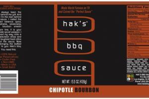 CHIPOTLE BOURBON BBQ SAUCE