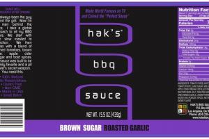 BROWN SUGAR ROASTED GARLIC BBQ SAUCE