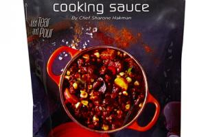 CHIPOTLE BOURBON WITH CARAMELIZED ONION AND ROASTED CHILI COOKING SAUCE