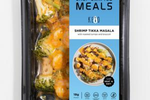 SHRIMP TIKKA MASALA WITH ROASTED TURNIPS AND BROCCOLI