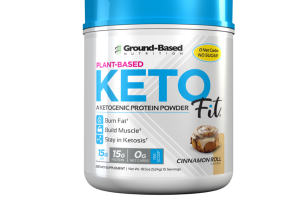PLANT-BASED KETOGENIC PROTEIN POWDER DIETARY SUPPLEMENT, CINNAMON ROLL
