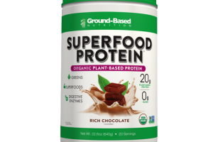 RICH CHOCOLATE FLAVORED ORGANIC PLANT-BASED SUPERFOOD PROTEIN