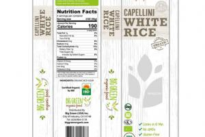 CAPELLINI WHITE RICE