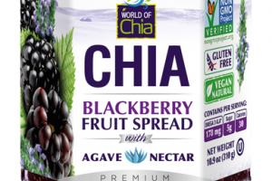 CHIA BLACKBERRY FRUIT SPREAD WITH AGAVE NECTAR