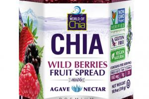 PREMIUM WILD BERRIES FRUIT SPREAD WITH AGAVE NECTAR