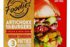 INDIAN TANDOORI PATTIES ARTICHOKE BURGERS