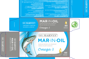 MAR-IN-OIL SALMON OIL WITH VITAMIN E OMEGA 3 FOOD SUPPLEMENT CAPSULAS