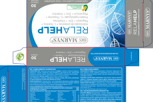 RELAHELP HIDROLIZADO DE PROTEÍNAS + L-TEANINA + MAGNESIO + ZINC + VITAMINAS PROTEIN HYDROLYSATE +L-THEANINE + MAGNESIUM + ZINC + VITAMINS FOOD SUPPLEMENT CAPSULES