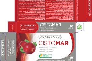 CISTOMAR CRANBERRY + VITAMIN C (VACCINIUM MACROCARPON) FOOD SUPPLEMENT VEGETABLE CAPSULES