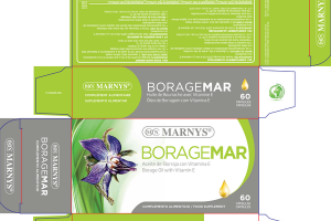 BORAGEMAR BORAGE OIL WITH VITAMIN E FOOD SUPPLEMENT CAPSULES