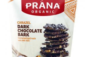 CARAZEL DARK CHOCOLATE BARK CARAMELIZED NUTS WITH SEA SALT SNACK