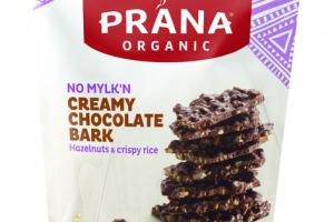 NO MYLK'N CREAMY CHOCOLATE BARK 40% CACAO HAZELNUTS & CRISPY RICE SNACK