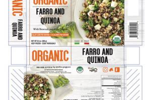 ORGANIC FARRO AND QUINOA WITH BROCCOLI AND FETA CHEESE
