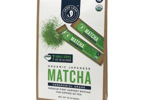 ORGANIC CEREMONIAL GRADE MATCHA JAPANESE SINGLE SERVES HOT OR COLD BREW TEA