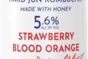 STRAWBERRY BLOOD ORANGE HARD JUN KOMBUCHA BEER