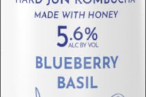 BLUEBERRY BASIL HARD JUN KOMBUCHA