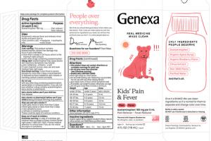 KIDS' PAIN & FEVER ACETAMINOPHEN 160 MG PER 5 ML PAIN RELIEVER - FEVER REDUCER LIQUID, ORGANIC BLUEBERRIES