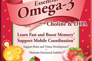 JUNIORS ESSENTIAL OMEGA-3 WITH CHOLINE & DHA DIETARY SUPPLEMENT JELLY BITES